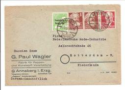Brief ANNABERG>HOLLAND 14.12.48 RÜCKSEITE !!! - Zone Soviétique