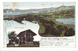 18886 - Gruss Aus Laubegg Bei Hütten Chalet Laubegg (attention Carte Réparée) - ZH Zurich