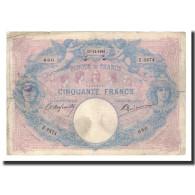 France, 50 Francs, 1903-12-17, KM:64c, TB, Fayette:14.15 - 50 F 1889-1927 ''Bleu Et Rose''