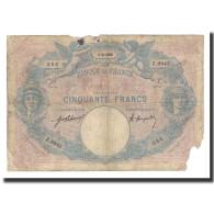 France, 50 Francs, 1921-04-1, KM:64f, B, Fayette:14.34 - 50 F 1889-1927 ''Bleu Et Rose''