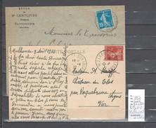 Lettre Cachet  Ambulant   Belfort à Mulhouse Et Retour  -Alsace -L - Indice 6 - Railway Post