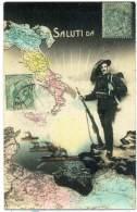"""S.739.  Guerra Italo-Turca (Libica) - BERSAGLIERI - """"Saluti Da"""" - 1914 - Guerres - Autres"""