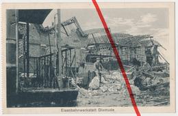 PostCard - Dixmude Diksmude Dixmuide - Eisenbahnwerkstatt - Ca. 1915 - Diksmuide