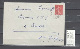 Lettre Cachet  Ambulant Marckolsheim à Strasbourg   -Alsace -L - Indice 8 - Railway Post