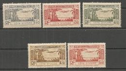 COTE IVOIRE -   PA  Yv.  N°  1 à 5   *   Cote 4,7 Euros BE 2 Scans - Ivory Coast (1892-1944)