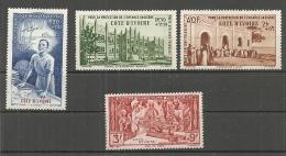COTE IVOIRE -   PA  Yv.  N°  6 à 9   *  Enfance + Quinzaine  Cote 4 Euros BE 2 Scans - Ivory Coast (1892-1944)
