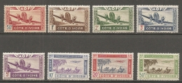 COTE IVOIRE -   PA  Yv.  N°  10 à 17  *    Cote 9,5 Euros BE 2 Scans - Ivory Coast (1892-1944)