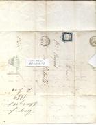 COURRIER De 1859 Adressé à Mr BUGAND D'ALBERTVILLE Avec TIMBRE, TAMPON Et CACHET   - 1591217 - Collections