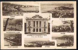 NICE - Multivues - Chambre De Commerce  De Nice - -  Recto Verso -  Paypal Sans Frais - Multi-vues, Vues Panoramiques