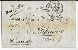 BAS-RHIN - 1835 - LETTRE De BOUXWILLER Avec CURSIVE + T12 De SAVERNE => DRUCOURT (EURE) - 1801-1848: Précurseurs XIX