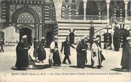 MONT LIBAN (Syrie) - Les Chefs Druses Dans La Palais Du Gouvernement à Beit-Eddin. - Syria