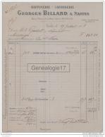 44 971 NANTES LOIRE INF 1913 Raffinerie Candiserie GEORGES BILLARD Quai Baco Et Rue Crucy A GUILLOT De MONTAIGU - France