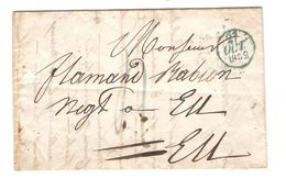 LAC De Paris 1832 (27/10) Port 4 En Bleu V.Eu C.d'arriivée PR5031 - 1801-1848: Precursores XIX