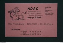 13 ARLES CARTE ASSOCIATION CINEMATOGRAPHIQUE 1 RUE ARISTIDE BRIAND  ADAC - Maps