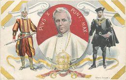 S.S. LE PAPE PIE X Carte Illustrée - Popes