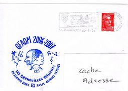 Porte Hélicoptères PH JEANNE D'ARC JDA Campagne 2006/2007 Cachet Les Grenouilles Veillent Obl. Mécanique Bord130/04/07 G - Marcophilie (Lettres)