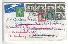 Lettre Par Avion 25 / 11 / 1947  De  Afrique Du Sud Vers Hambourg - South Africa (...-1961)