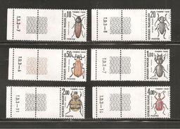 France, Taxe 103/108, Neuf **, Avec Guilloché TD3, TTB, Insectes, Coléoptères - Portomarken