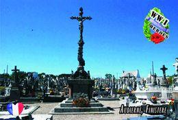 Carte Postale, Militaria, Monuments, World War I Monuments, France (Finistère), Audierne - Monuments Aux Morts