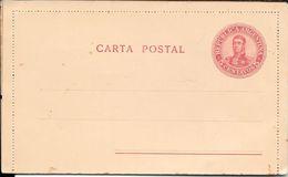 AÑO 1908 - REPUBLICA ARGENTINA - ENTERO POSTAL SAN MARTIN EN MEDALLON INTERO ENTIER 5 CENTAVOS CARMIN - Ganzsachen