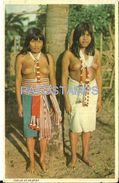 84096 PARAGUAY COSTUMES NATIVE INDIOS GUARANIES SEMI NUDE WOMAN'S BREAK POSTAL POSTCARD - Paraguay