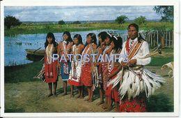 84093 PARAGUAY COSTUMES NATIVE INDIOS MACAES CHACO POSTAL POSTCARD - Paraguay