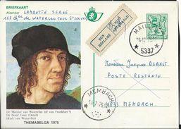 Doc. De  MAILLEN (5337)  Du 31/12/1975   + étiquette Non-réclamé Et Obl. étoile De MEMBACH 14/07/1976 - Sellos Con Estrellas