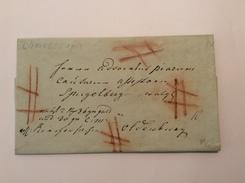 """LÖNINGEN 1822 Seltener Wert-Brief """"GOLD"""" REKOMMANDIERT (Oldenburg Altdeutschland Vorphilatelie Cover Vorphila - Oldenbourg"""
