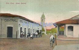 84097 PARAGUAY VILLA RICA VILLARICA GUAIRÁ HOTEL CENTRAL & CARRIAGE A HORSE POSTAL POSTCARD - Paraguay