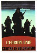 Carte Postale L'Europe Unie Contre Le Bolchevisme LVF - Oorlog 1939-45