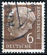 BRD - Michel 180 - OO Gestempelt (C) - 6Pf   Heuss I - [7] West-Duitsland