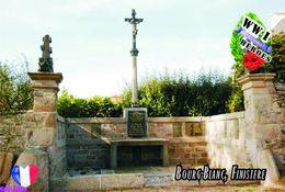 Carte Postale, Militaria, Monuments, World War I Monuments, France (Finistère), Bourg-Blanc - Monuments Aux Morts