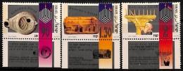[812368]Israël 1993 - N° 1227/29, Hannuka, Fête Des Lumières, SC, Archéologie, Avec Tabs - Israele
