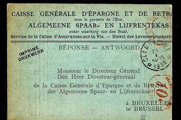 Doc. De CLEMSKERKE  21/01/1935 - Marcophilie