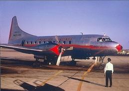 Aviation Postcard-351 AMERICAN AIRLINES Convair 240 - 1946-....: Moderne