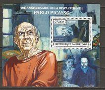 Burundi - 2013 - 40ème Anniversaire De La Disparition De Pablo Picasso  - BF377 MNH - Le Vieux Guitariste - Burundi