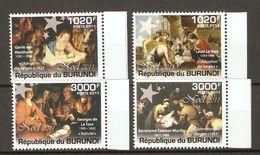 Burundi - 2011 - Noël - Série Complète MNH - Lenain - Murillo - De La Tour - Van Honthorst - Burundi