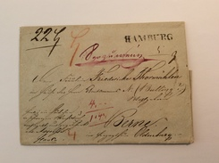 HAMBURG 1838 Seltener UNTERFRANKIERTER  PAKETBEGLEITBRIEF> Berne Oldenburg (Altdeutschland Vorphilatelie PBB Brief - Hamburg