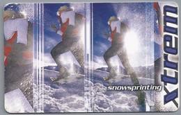 DE.- Telefoonkaart. Telecom TELEFONKARTE. 12 DM. - Xtrem. Extreme Sportarten: Snowsprinting - P & PD-Reeksen : Loket Van D. Telekom