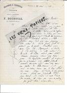 25 - Doubs - LE VALDAHON - Facture DUCHOSAL - Draperie, Confection, épicerie - 1897 - REF 82A - France