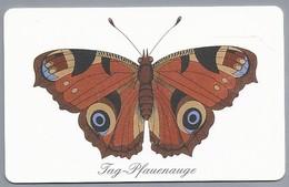 DE.- Telefoonkaart. Telecom TELEFONKARTE. 12 DM. - Das Tag-Pfauenauge.Vlinder. Dagpauwoog (Aglais Io)  Nymphalidae . - Duitsland