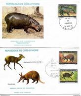IVORY COAST 1979 ANIMALS 2 FDC UNUSED - Costa D'Avorio (1960-...)