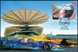 MOTORING - MALAYSIA KUALA LUMPUR 1999 - MALAYSIAN GRAND PRIX 1999 SEPANG - CARTOLINA UFFICIALE - Cars