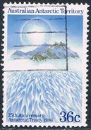 AAT - 25e Anniversaire Du Traité Antarctique 73 Oblit. - Territoire Antarctique Australien (AAT)