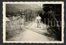 Photo Ancien / Foto / Man / Homme / On Holiday / Mario Erculiau / Size: 9 X 6 Cm. - Personnes Identifiées