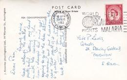 WORLD HEALTH ORGANISATION FIGHTS MALARIA  1962 - Postmark Collection