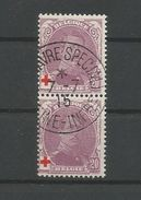 OCB  131 Gestempeld Samenhangend - 1918 Croix-Rouge