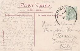 1910 SKELETON POSTMARK - PAIGNTON - Postmark Collection