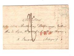 LAC Faubourg St.Denis 11/2/1835 Pour BXL C.F.R.3. France Par Mons C.d'arrivée PR5039 - 1801-1848: Précurseurs XIX