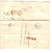 LAC Paris 014/3/1835 Pour Fontaine L'Evêque Via Mons C.F.R.3 + France Par Mons Port 14 PR5040 - 1801-1848: Précurseurs XIX